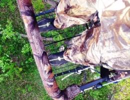 Белорусский охотник на тристенде, платформа для ног