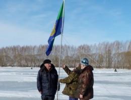 Подъем флага Пензенского общества охотников и рыболовов