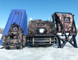 Продукция компании Scorpio: палатка, рюкзак, лабаз-самолаз