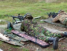 Стрельба из снайперской винтовки лежа