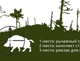 Баннер конкурса - лучшее видео охоты на кабана